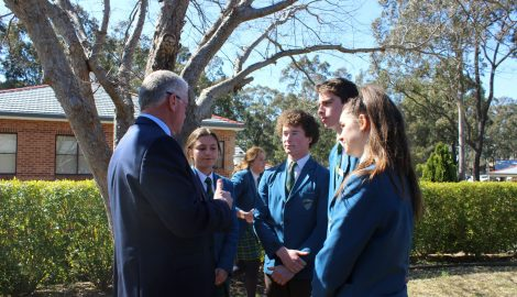 Paul Teys talking with school captains