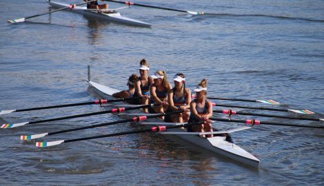 Girls in rowing squad