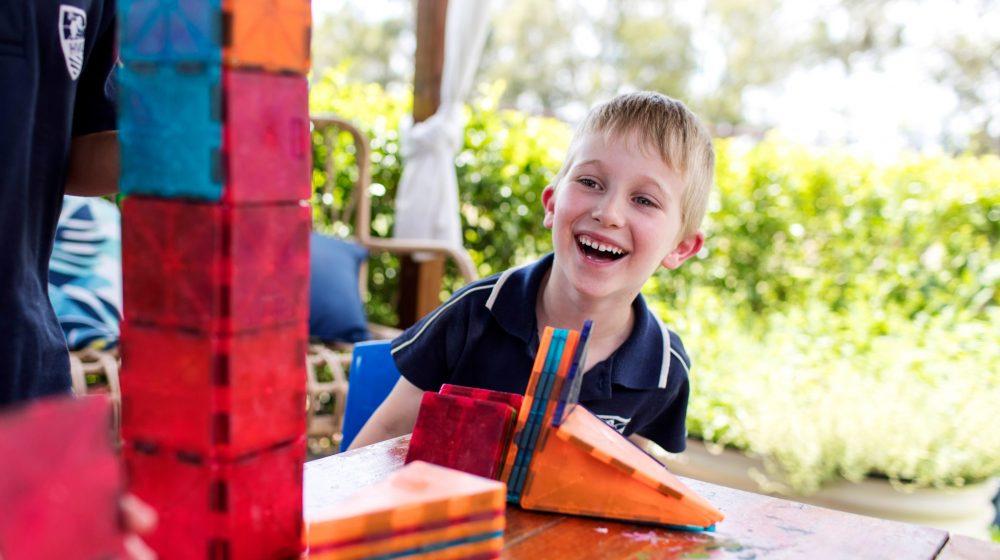 Preschooler laughing