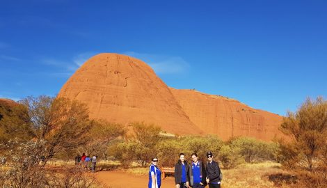 Students at Kata Juta