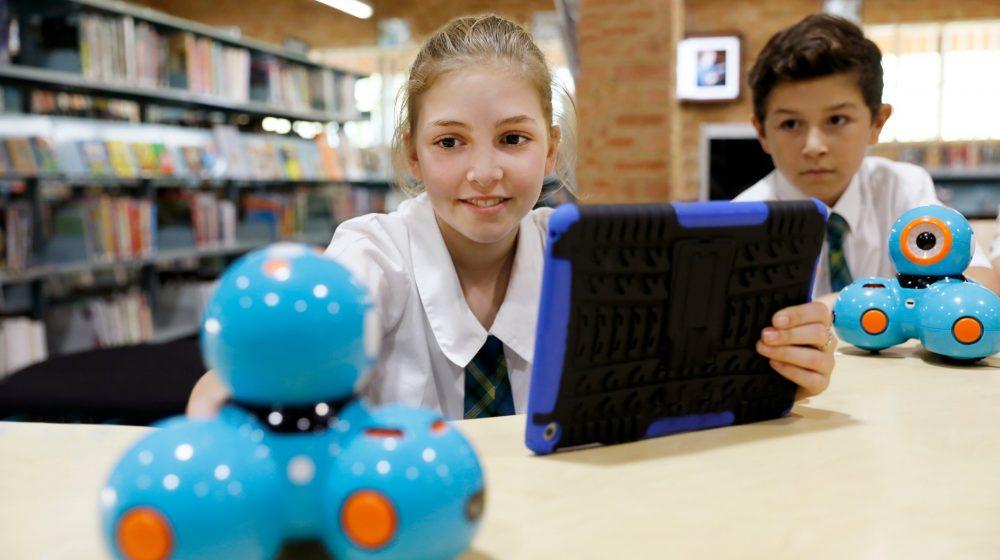 Student programming robot