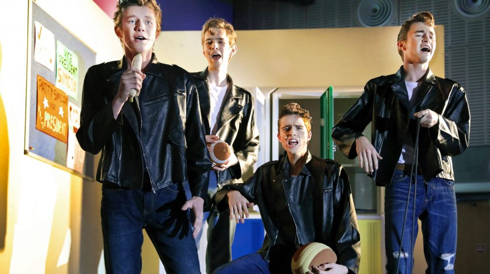 Students in Grease musical