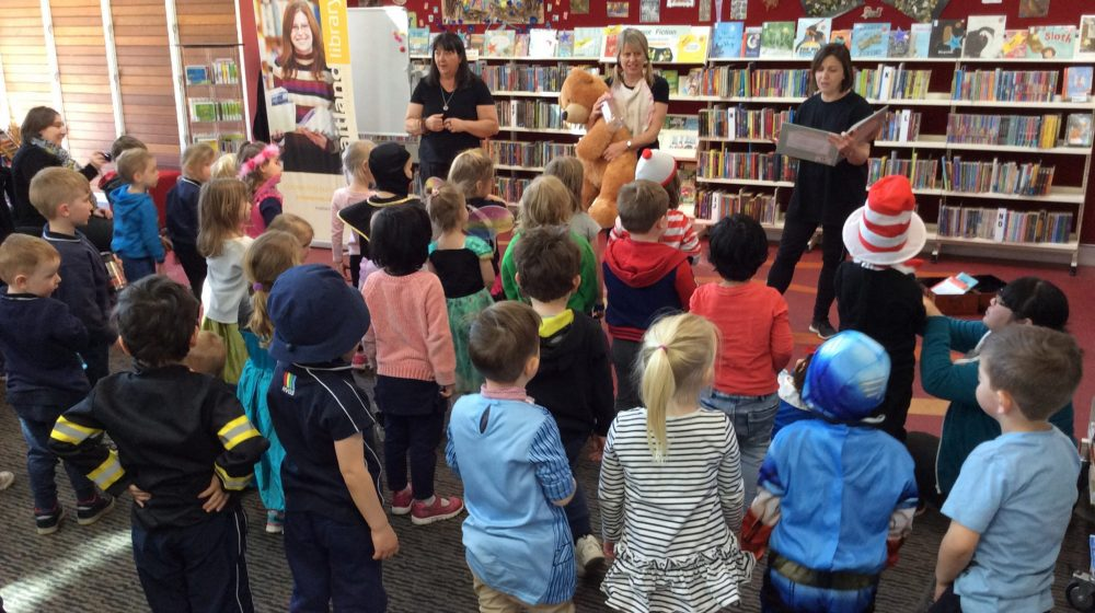 ELC Students at local library