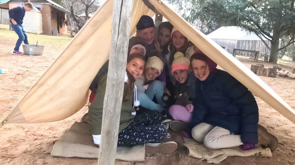Kids in tent