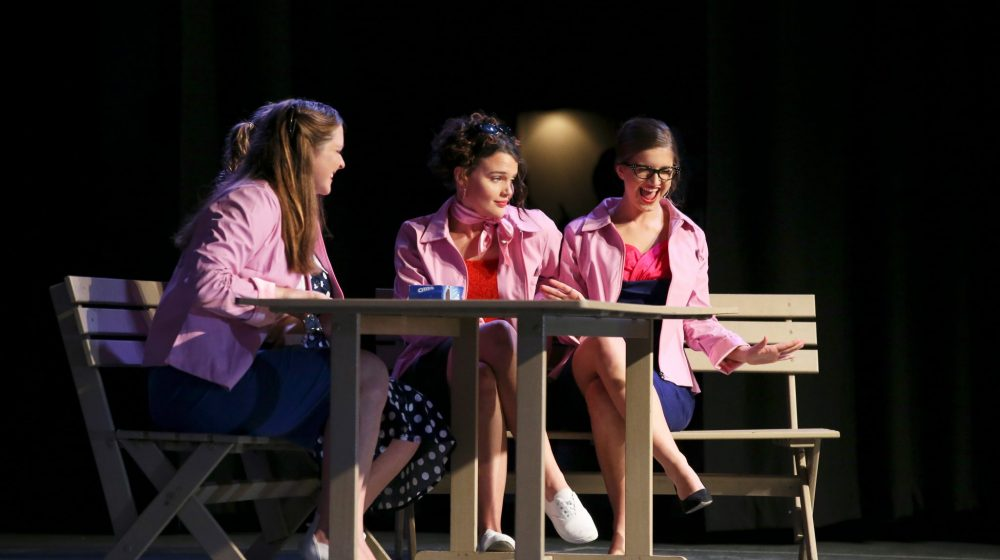 students in drama production