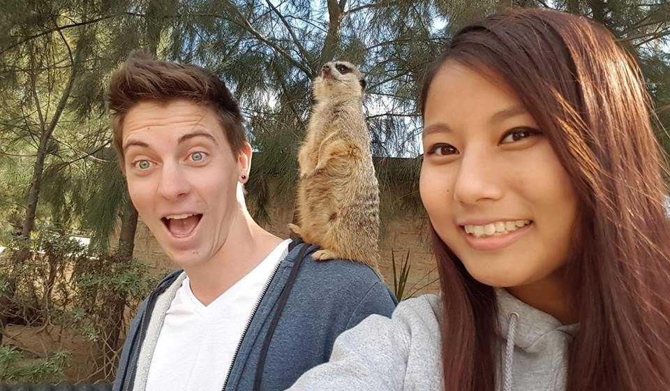 Alex with Meerkat