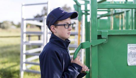 Student at farm