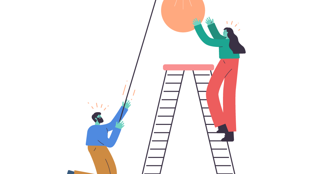 people helping each other illustration