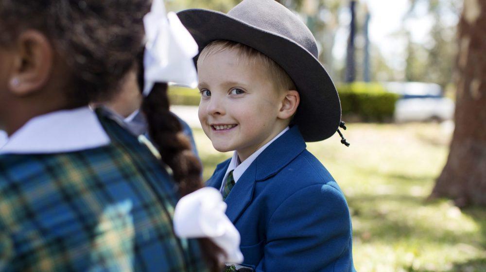 Kindy child smiling