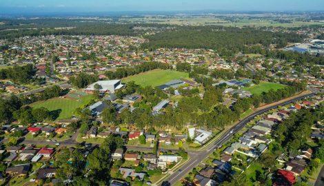 Drone footage of Hunter Valley Grammar School